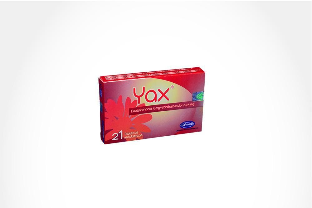 Yax 3 / 0.03 mg Caja Con 21 Tabletas Recubiertas