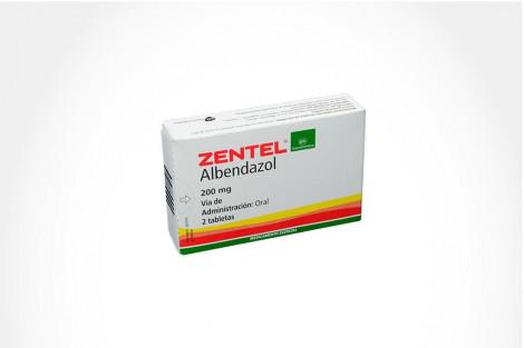 ZENTEL 200 mg Caja 2 Tabletas