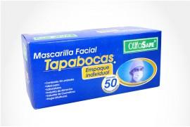 Tapabocas Alfa Safe Caja Con 50 Unidades - Azul