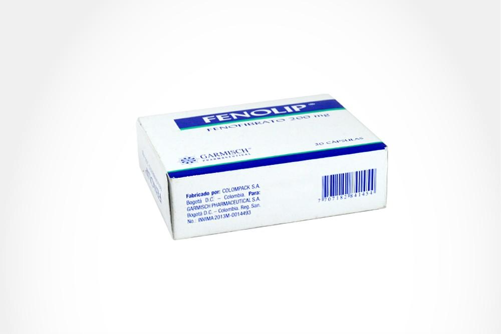 Fenolip 200 mg Caja x 30 Tabletas - Garmisch