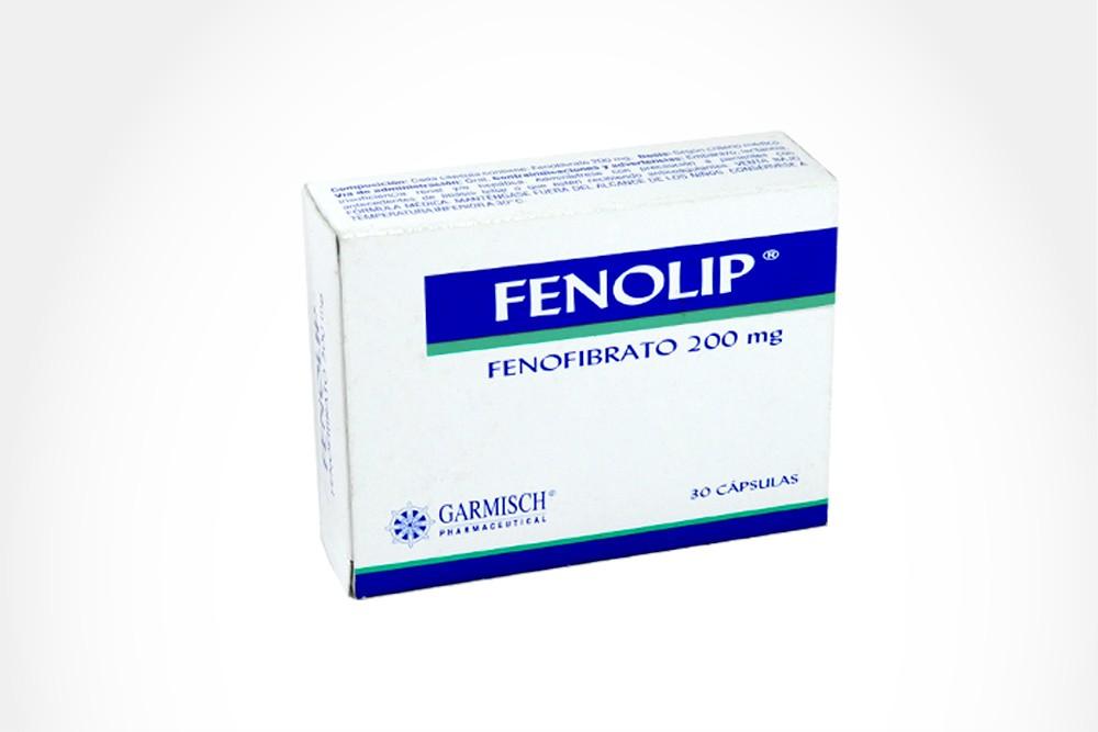 Fenolip 200 mg Caja Con 30 Tabletas