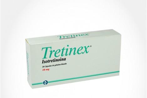 Tretinex 10 mg Caja Con 30 Cápsulas De Gelatina Blanda.