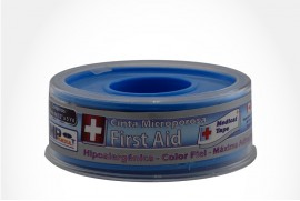 "CINTA AUTOADHESIVA MEDICAL TAPE MICROPOROSA PIEL """"""""""""""""""""""""""""""1/2"""""""""""""""""""""""" MICROPOROSA CAJ 1 UN MP PROMEDICAL LTDA"