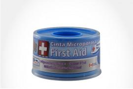 """Cinta Microporosa First Aid Empaque Con 1 Rollo De 1"""" x 5 yd - Caolor Piel"""