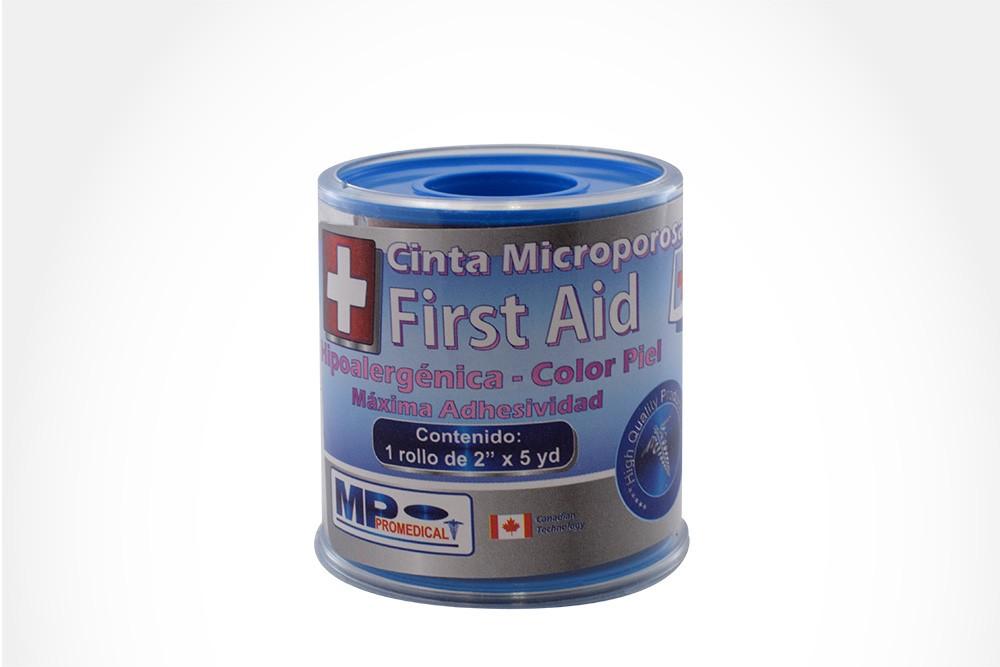 """Cinta Microporosa First Aid Empaque Con 1 Rollo De 2"""" x 5 yd - Color Piel"""