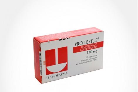 Pro Lertus 140 mg Caja Con 20 Cápsulas De Liberación Prologada