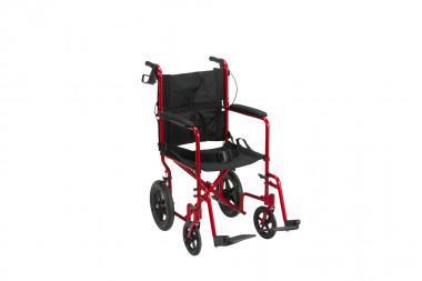 Silla De Transporte Drive Plegable Con Frenos – Color Rojo