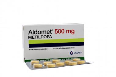 Aldomet 500 mg Caja Con 30 Tabletas Recubiertas