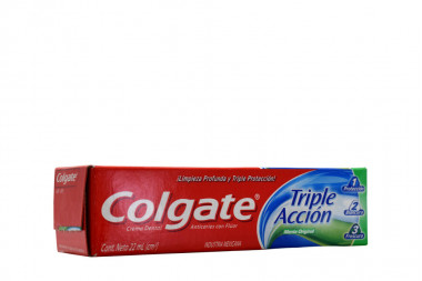 Colgate Crema Dental Triple Acción Caja Con Tubo Con 22 mL