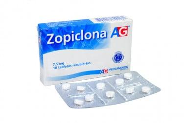 Zopiclona 7.5 mg Caja Con 10 Tabletas Recubiertas
