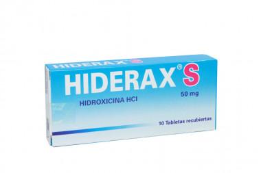 Hiderax S 50 mg Caja Con 10 Tabletas Recubiertas