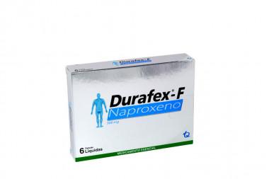 Durafex-F 500 mg Caja Con 6 Cápsulas Líquidas