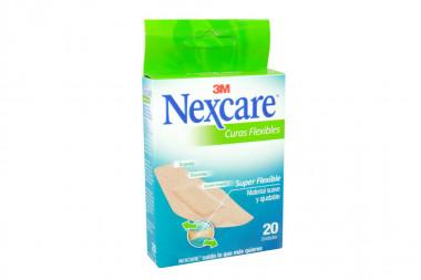 Nexcare Curas Flexibles Caja Con 20 Unidades