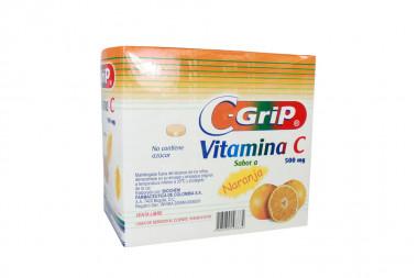 C Grip 500 mg Caja Con 144 Tabletas Masticables - Sabor Naranja