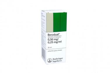 Berodual Solución Para Inhalar 0.50 / 0.25 mg Caja Con Frasco Con 20 mL