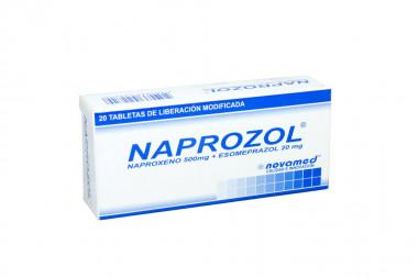 Naprozol 500 / 20 mg Caja Con 20 Tabletas Liberación Modificada