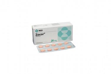 Zocor 20 mg Caja Con 10 Tabletas Recubiertas