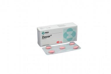 Zocor 40 mg Caja Con 10 Tabletas Recubiertas
