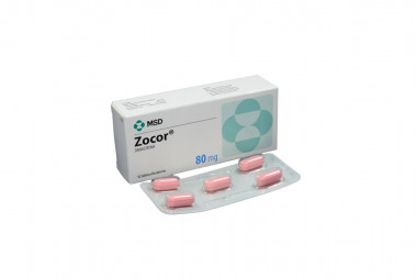Zocor 80 mg Caja Con 10 Tabletas Recubiertas