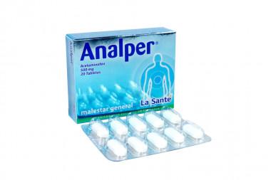 Analper 500 mg Caja Con 20 Tabletas
