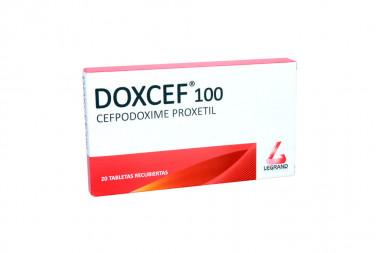 Doxcef 100 mg Caja Con 20 Tabletas Recubiertas