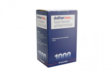 Daflon 1000 mg Suspensión Oral Caja Con 30 Sachets