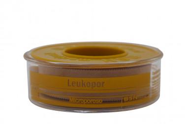 Leukopor Esparadrapo Microporoso Empaque Con 1 Rollo De 1,25cm x 9,14 m