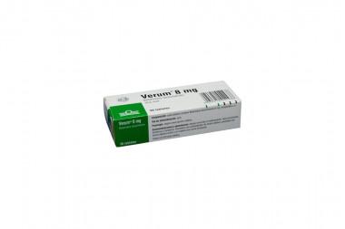 Verum 8 mg Caja Con 30 Tabletas