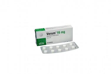 Verum 16 mg Caja Con 20 Tabletas