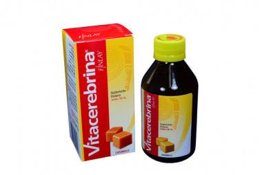 Vitacerebrina Jarabe Caja Con Frasco Con 180 mL - Sabor A Caramelo