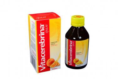 Vitacerebrina Jarabe Caja Con Frasco Con 180 mL - Sabor a Naranja