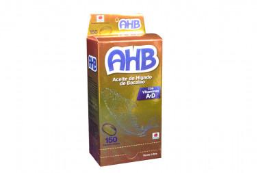 AHB Aceite de Higado De Bacalao Caja Con 150 Cápsulas Blandas