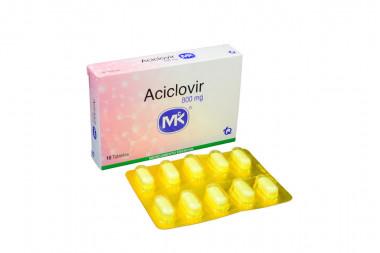 Aciclovir 800 mg Caja x 10 Tabletas – Tecnoquímicas