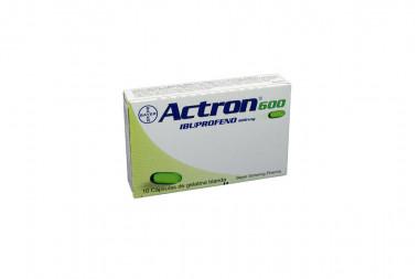 Actron 600 mg Caja Con 10 Cápsulas de Gelatina Blanda