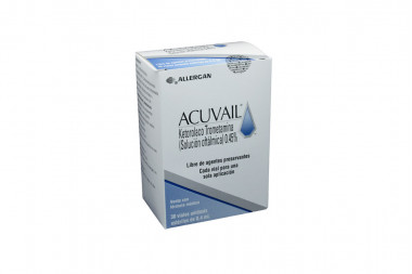 Acuvail Solución Oftálmica 0.45 % Caja Con 30 Viales Unidosis De 0.4 mL