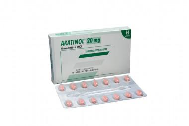 Akatinol 20 mg Caja Con 14 Tabletas Recubiertas
