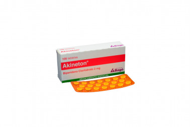Akineton 2 mg Caja Con 100 Tabletas