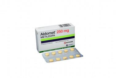 Aldomet 250 mg Caja Con 30 Tabletas Recubiertas