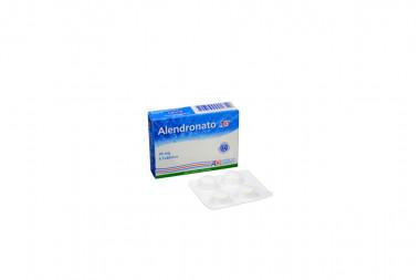 Alendronato 70 mg Caja Con 4 Tabletas