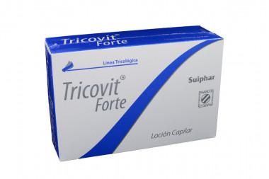 Tricovit Forte Loción Capilar Caja Con 10 Frascos De 8 mL