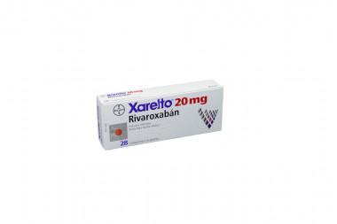 Xarelto 20 mg Caja Con 28 Comprimidos Recubiertos