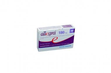 Allegra 180 mg Caja Con 10 Tabletas Recubiertas
