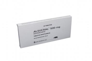 Alsucral 500 mg Caja x 20 Tabletas masticables