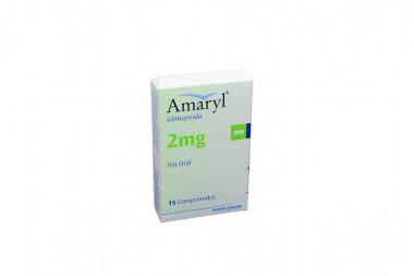 Amaryl M 2 mg Caja Con 15 Comprimidos