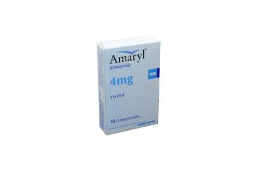 Amaryl 4 mg Caja Con 15 Comprimidos