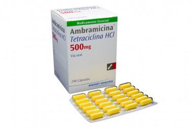 Ambramicina 500 mg Caja Con 240 Cápsulas