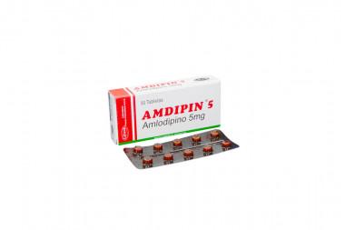 Amdipin 5 mg Caja Con 30 Tabletas