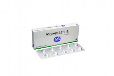 Atorvastatina 10 mg Caja Con 10 Tabletas Recubiertas