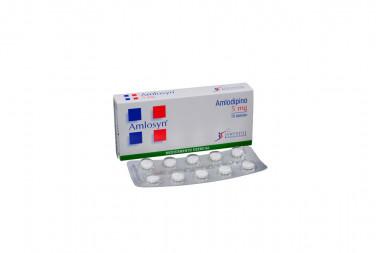 Amlosyn 5 mg Caja Con 10 Tabletas