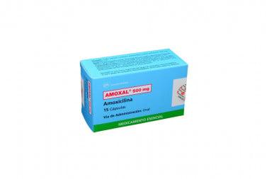 Amoxal 500 mg Caja Con 15 Cápsulas